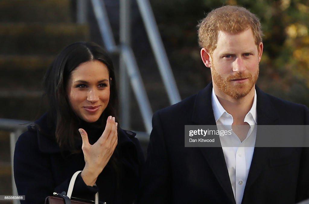 Prince Harry & Meghan Markle Visit Nottingham : News Photo