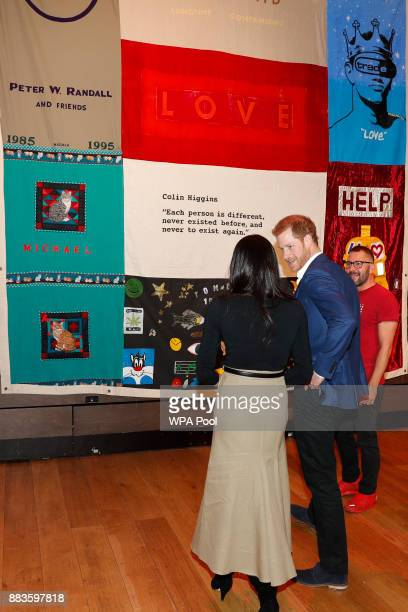 Prince Harry and his fiancee US actress Meghan Markle visit the Terrence Higgins Trust World AIDS Day charity fair at Nottingham Contemporary on...