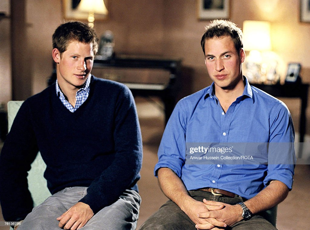 HRH Prince William and HRH Prince Harry announce a pop concert will be held at Wembley Stadium to comemorate the 10th Anniversary of  Diana, Princess of Wales death : News Photo