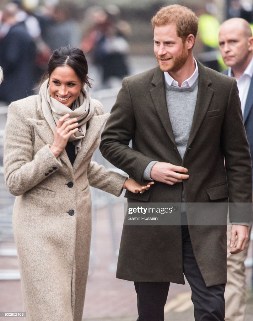 Prince Harry and Meghan Markel Visit Reprezent : News Photo