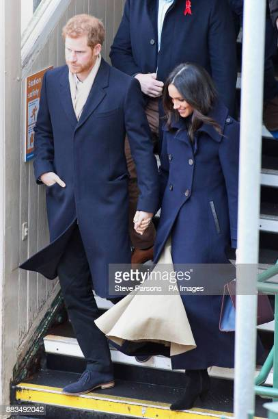 Prince Harry and Meghan Markle arrive at Nottingham Station ahead of their first official engagement together