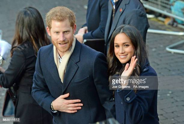 Prince Harry and Meghan Markle arrive at the Nottingham Contemporary in Nottingham to attend a Terrence Higgins Trust World AIDS Day charity fair on...
