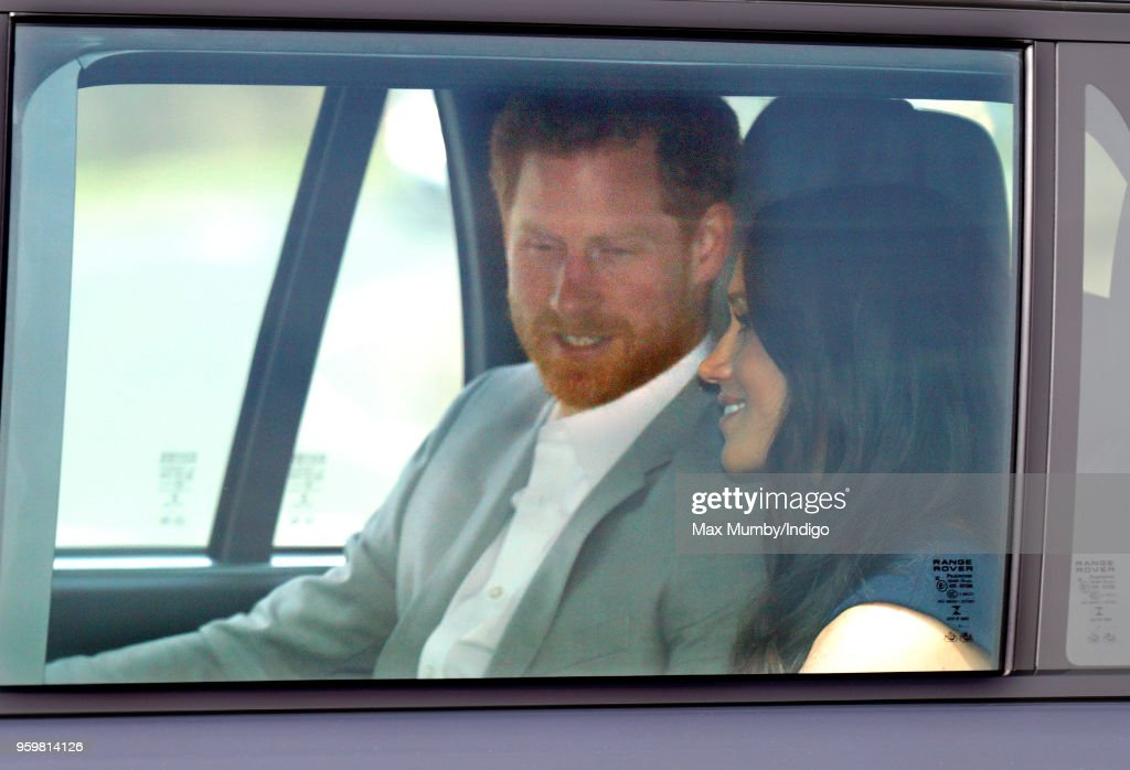 Prince Harry And Meghan Markle Arrive At Windsor Castle On The Eve Of The Wedding