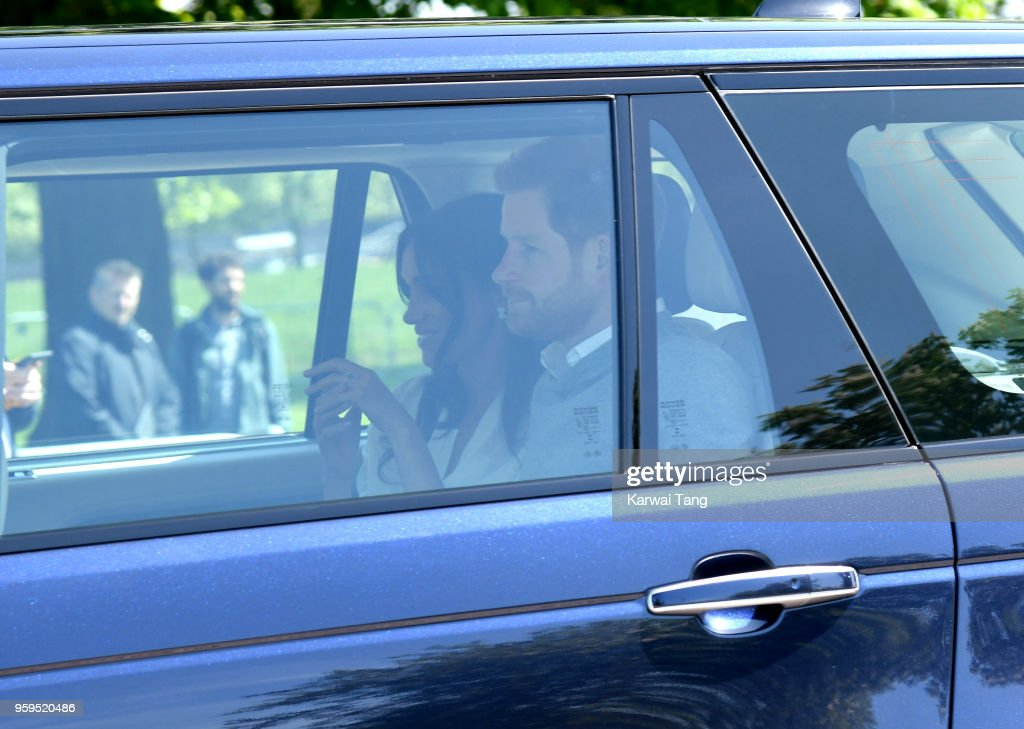 Prince Harry And Meghan Markle Arrive In Windsor