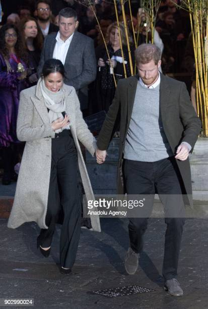 Prince Harry and Meghan Markle arrive Pop Brixton to see the broadcaster's work supporting young people through creative training at Reprezent FM's...