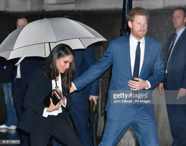 Prince Harry and Meghan Markle arrive to attend the annual Endeavour Fund Awards at Goldsmiths' Hall in London to celebrate the achievements of...