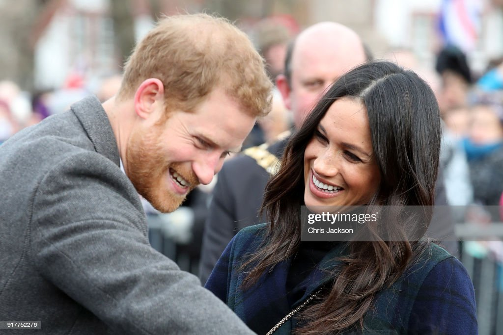 Prince Harry And Meghan Markle Visit Edinburgh : News Photo