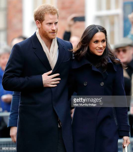 Prince Harry and Meghan Markle attend a Terrence Higgins Trust World AIDS Day charity fair at Nottingham Contemporary on December 1, 2017 in...