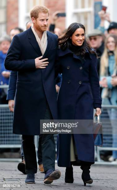 Prince Harry and Meghan Markle attend a Terrence Higgins Trust World AIDS Day charity fair at Nottingham Contemporary on December 1 2017 in...