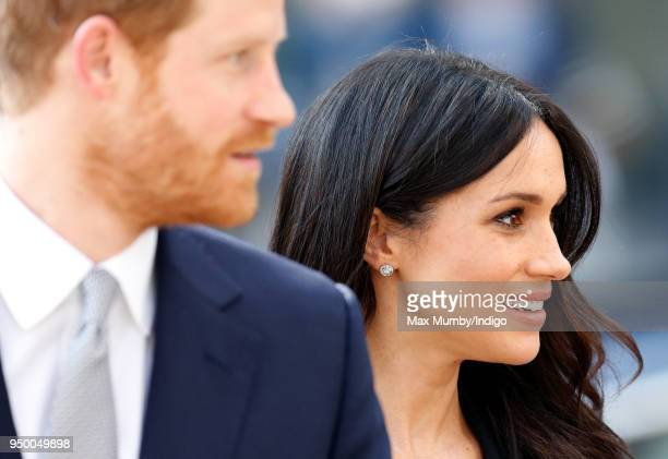 Prince Harry and Meghan Markle attend an Invictus Games Reception at Australia House on April 21 2018 in London England