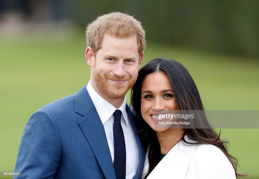 Prince Harry and Meghan Markle attend an official photocall to announce their engagement at The Sunken Gardens, Kensington Palace on November 27, 2017 in London, England. Prince Harry and Meghan Markle have been a couple officially since November 2016 and are due to marry in Spring 2018.