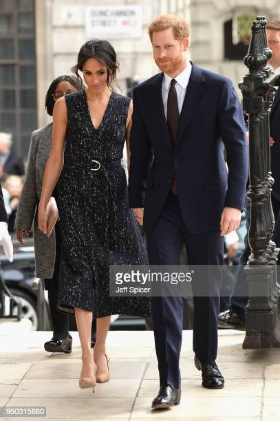 Prince Harry and Meghan Markle attend the 25th Anniversary Memorial Service to celebrate the life and legacy of Stephen Lawrence at St...