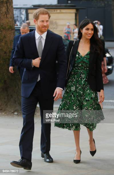 Prince Harry and Meghan Markle attend the Invictus Games Reception at Australia House on April 21 2018 in London England