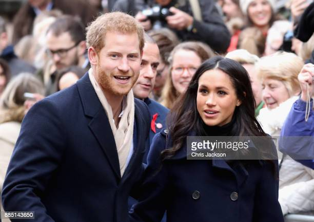 Prince Harry and Meghan Markle attends the Terrance Higgins Trust World AIDS Day charity fair at Nottingham Contemporary on December 1 2017 in...