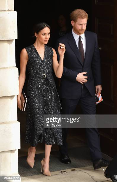 Prince Harry and Meghan Markle depart after attending the 25th Anniversary Memorial Service to celebrate the life and legacy of Stephen Lawrence at...
