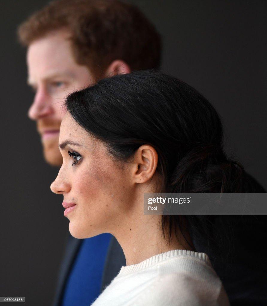 Prince Harry and Meghan Markle in Northern Ireland : Nachrichtenfoto