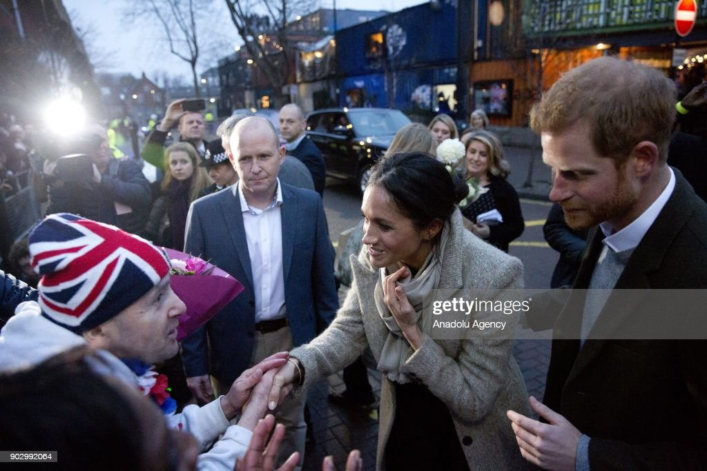 Prince Harry and his fiance Meghan Markle : News Photo