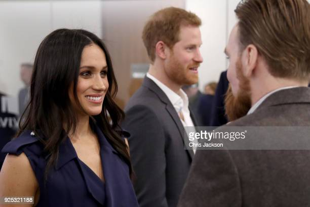 Prince Harry and Meghan Markle meet with panelists and beneficiaries as they attend the first annual Royal Foundation Forum held at Aviva on February...