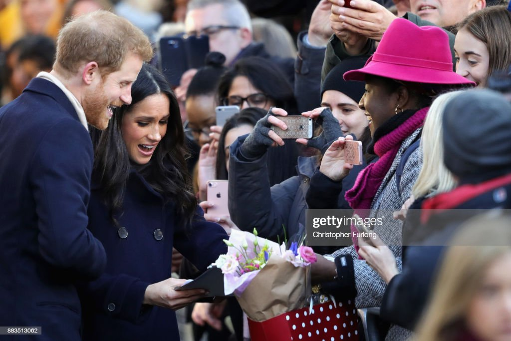 Prince Harry & Meghan Markle Visit Nottingham : News Photo