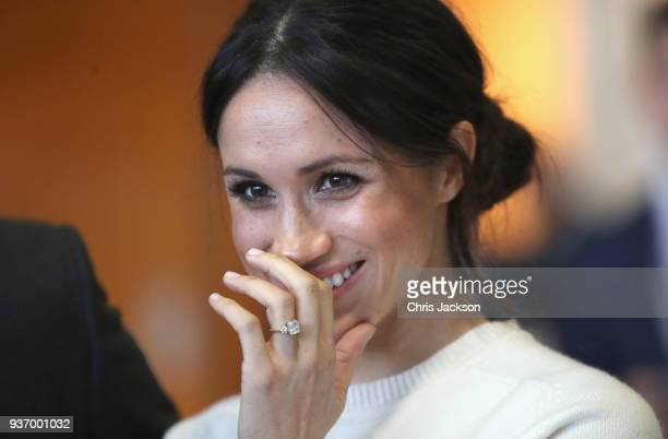 Prince Harry and Meghan Markle visit Catalyst Inc Northern Ireland's next generation science park to meet young entrepreneurs and innovators on March...
