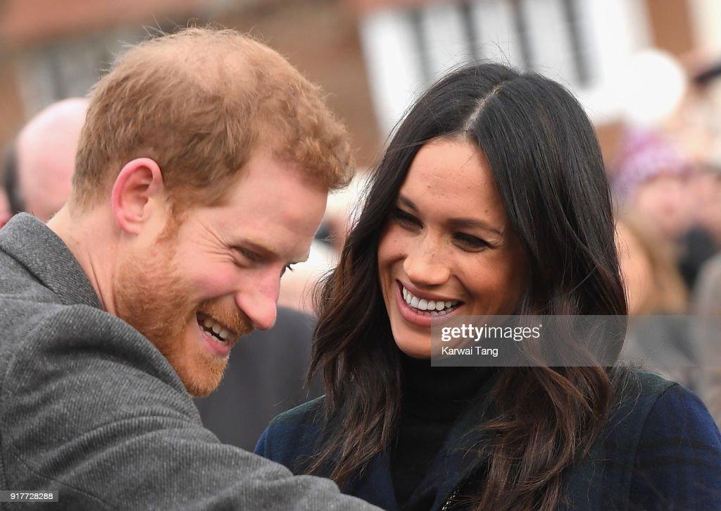 Prince Harry And Meghan Markle Visit Edinburgh : News Photo