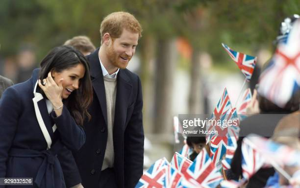 Prince Harry and Meghan Markle visit Millennium Point on March 08 2018 in Birmingham England