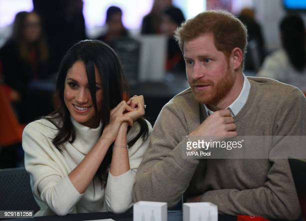 Prince Harry and Meghan Markle visit Millennium Point to celebrate International Women's Day on March 8 2018 in Birmingham England