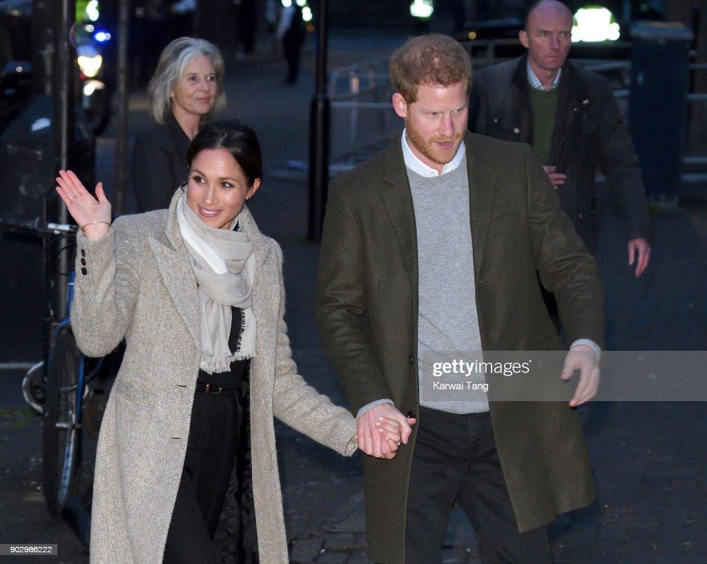 Prince Harry and Meghan Markle Visit Reprezent : News Photo