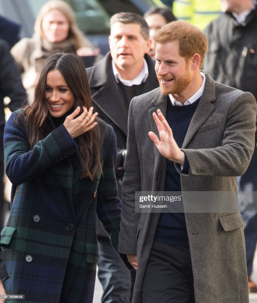 Prince Harry and Meghan Markle visit Social Bite, a cafe that donates all profits to social causes, during a visit to Scotland on February 13, 2018 in Edinburgh, Scotland