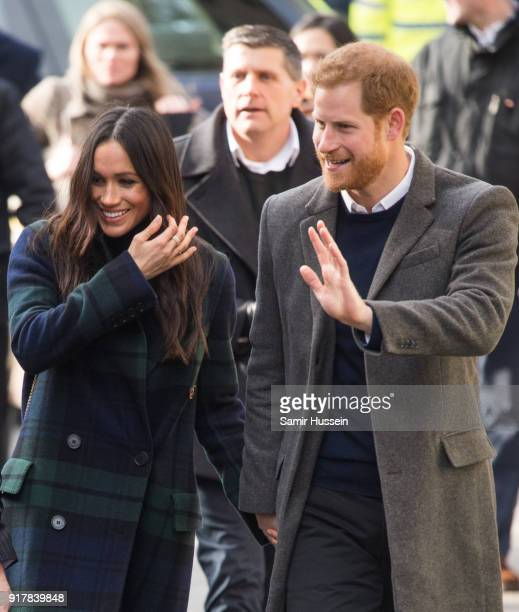 Prince Harry and Meghan Markle visit Social Bite, a cafe that donates all profits to social causes, during a visit to Scotland on February 13, 2018...