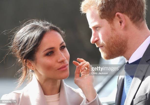 Prince Harry and Meghan Markle visit the Eikon Centre and attend an event to mark the second year of the youthled peacebuilding initiative 'Amazing...