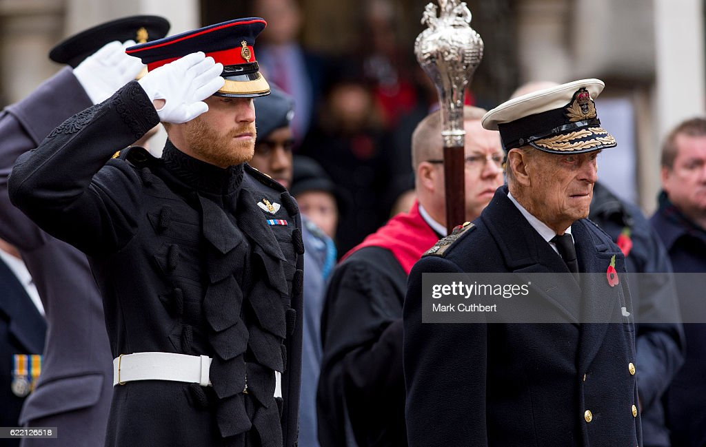 Duke Of Edinburgh And Prince Harry Visit The Fields Of Remembrance : News Photo