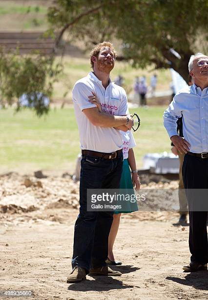 Prince Harry and Prince Seeiso during the opening of Mamahato Childrens centre for orphans and families affected by HIV and AIDS on November 26, 2015...
