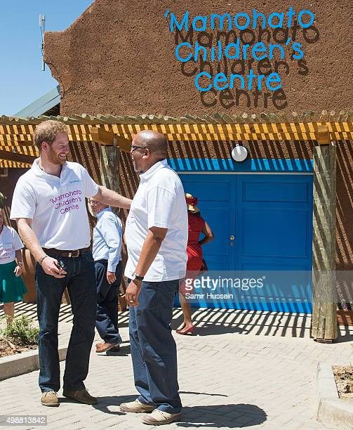 Prince Harry and Prince Seeiso of Lesotho attend the opening of Sentebale's Mamohato Children's Centre during an official visit to Africa on November...