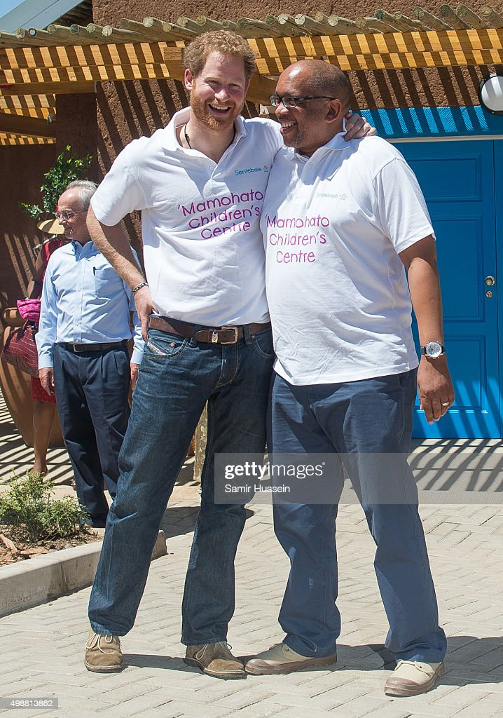 Prince Harry and Prince Seeiso of Lesotho attend the opening of Sentebale's Mamohato Children's Centre during an official visit to Africa on November 26, 2015 in Maseru, Lesotho.