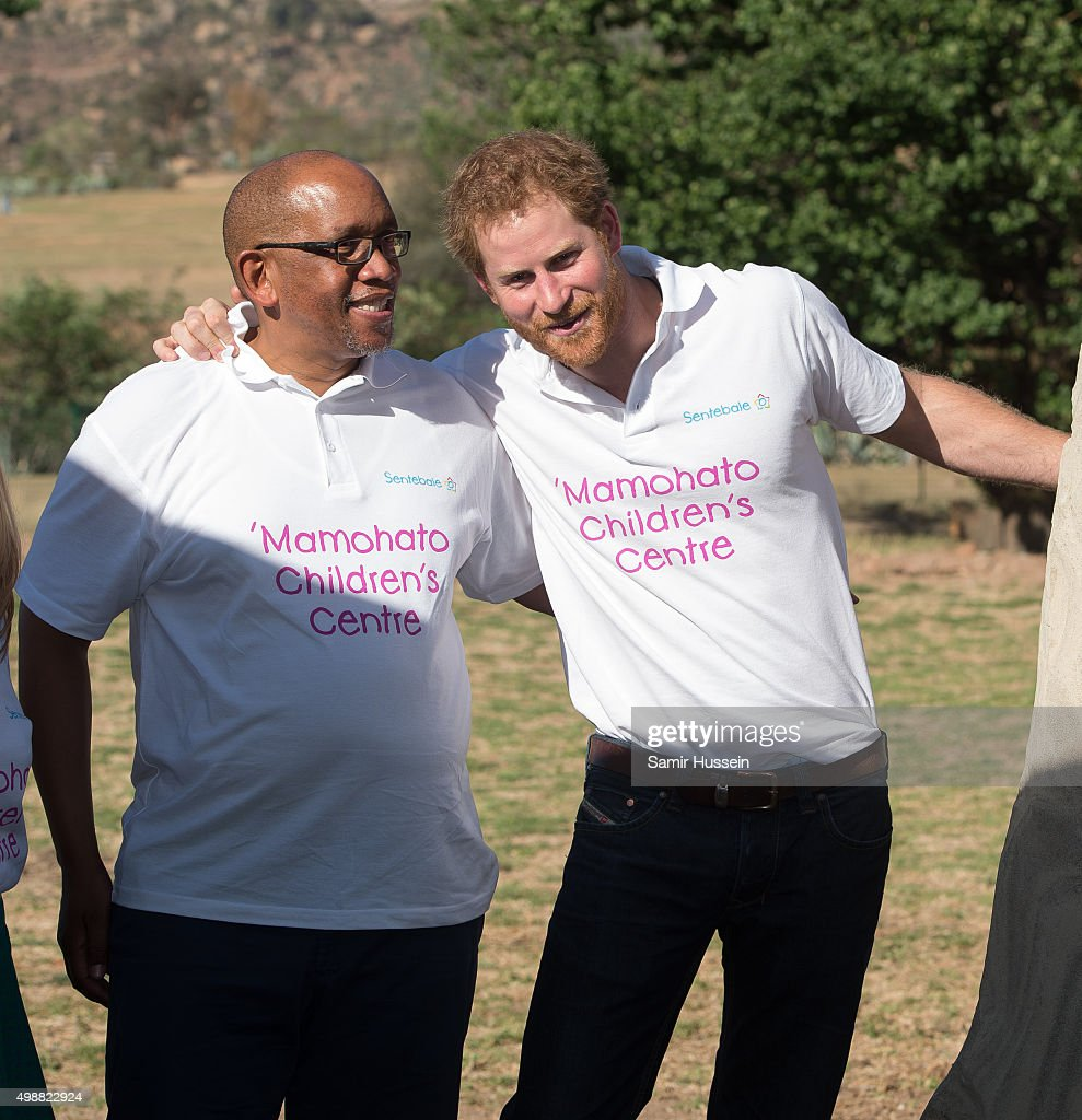 Prince Harry Visits Africa - Day 1 : News Photo