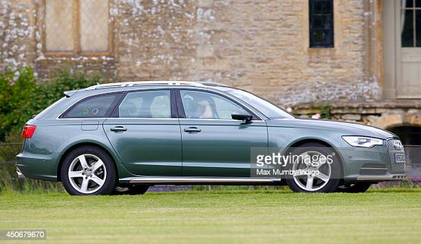 Prince Harry and Prince William Duke of Cambridge arrive in their Father Prince Charles Prince of Wales's Audi car to play in the Jerudong Trophy...