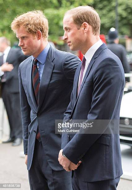 Prince Harry and Prince William Duke of Cambridge attending the BITC Annual Responsible Business Awards Gala at Royal Albert Hall on July 8 2014 in...
