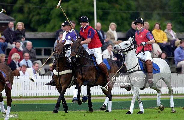 Prince Harry And Prince William In A Polo Match At Cirencester Park Polo Club They Played In The Highgrove Team With Their Father For The King...