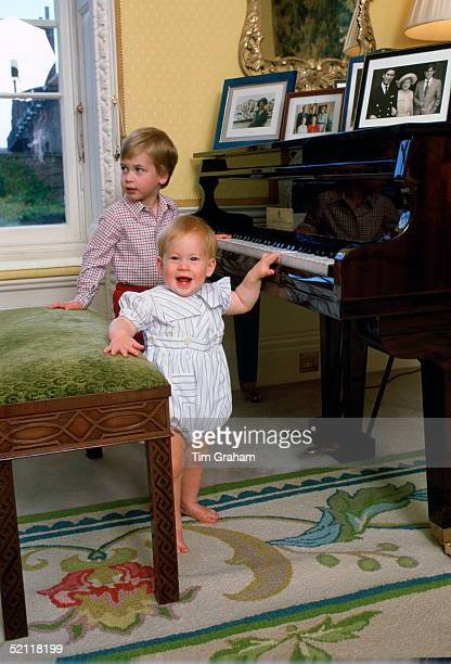 Prince Harry And Prince William Playing The Piano Together At Home In Kensington Palace