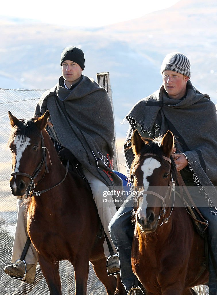 Prince William And Harry Visit Lesotho - Day 2 : News Photo