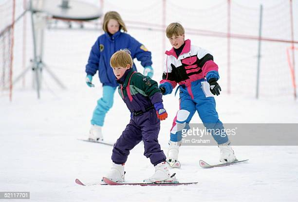 Prince Harry And Prince William Skiing On Holiday In Lech Austria