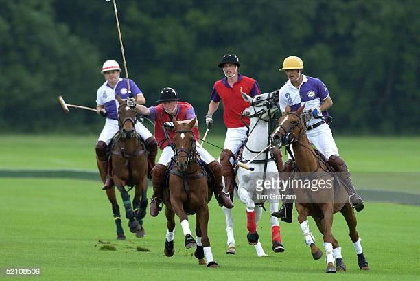 Prince Harry And Prince Williamin A Polo Match At Cirencester Park Polo Club They Played In The Highgrove Team With Their Father For The King...