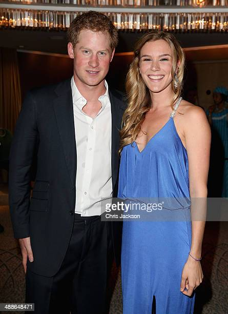 Prince Harry and Sentebale ambassador Joss Stone attend the Sentebale Summer Party at the Dorchester Hotel on May 7 2014 in London England