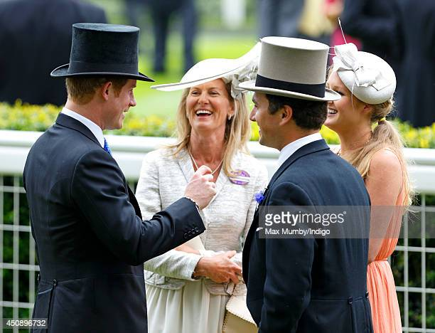 Prince Harry and Thomas van Straubenzee attends Day 3, Ladies Day, of Royal Ascot at Ascot Racecourse on June 19, 2014 in Ascot, England.