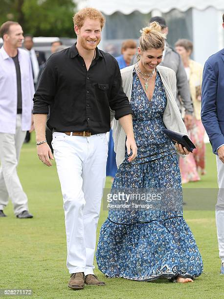 Prince Harry are Delfina Blaquier are seen arriving at the Sentebale Royal Salute Polo Cup WIth Prince Harry on May 4 2016 in Wellington Florida