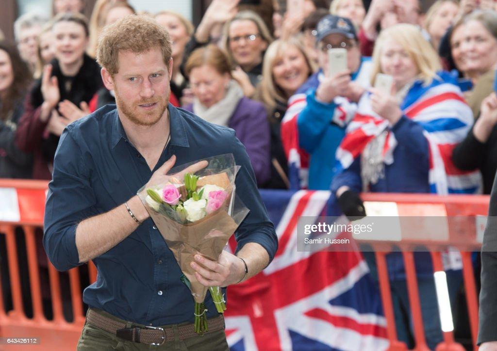 Prince Harry Visits Newcastle & Gateshead With Heads Together : News Photo