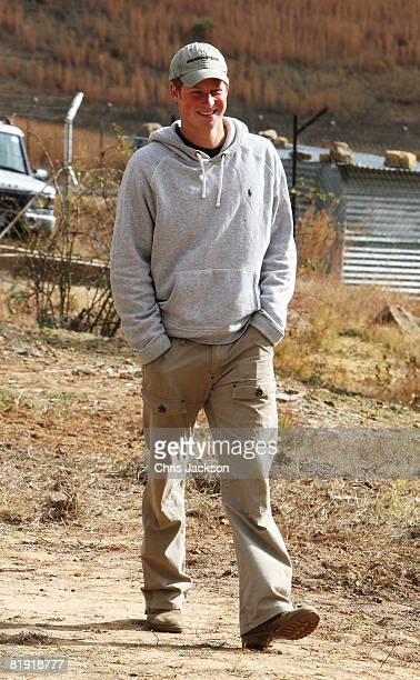 Prince Harry arrives at LCCU on July 9 2008 in Maseru Lesotho Prince Harry and 26 soldiers from the Household Cavalry are in Lesotho working to...