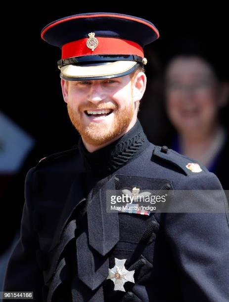 Prince Harry arrives at St George's Chapel, Windsor Castle ahead of his wedding to Ms Meghan Markle on May 19, 2018 in Windsor, England. Prince Henry...