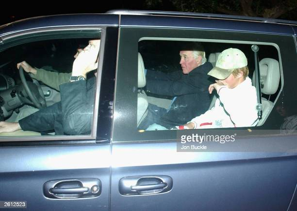 Prince Harry arrives at Subiaco Oval prior to the England V South Africa match during the Rugby World Cup Pool C match between South Africa and...